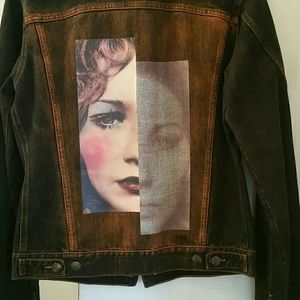 JUST CAVALLI beautiful art  jean jacket